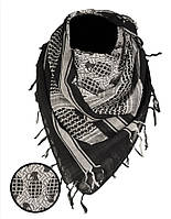 Арафатка-шемаг Mil-Tec з принтом Ф1 чорно-біла 110*110см 100% бавовна, фото 1