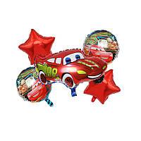 """Набор фольгированных шаров """"Молния Макквин"""" 5 шт. для праздничного декора"""