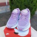 Женские кроссовки в стиле Nike Flyknit Lunar 3 серые с сиреневым, фото 3
