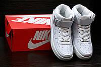 NIKE AIR FORCE 1 MID '07 кроссовки высокие белые унисекс Найк Аир Форс 1 Мид 07