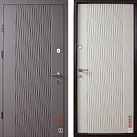 Дверь входная металлическая ZIMEN Wave, Optima Plus, Kale, Силк куантро / Тирамису, 850х2050, правая