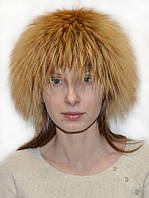 Женская шапка из меха чернобурки золоченой.