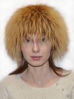 Женская шапка из меха чернобурки золоченой., фото 1