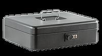 Металлический бокс для денег сейф buromax bm.0402 черный 30 см