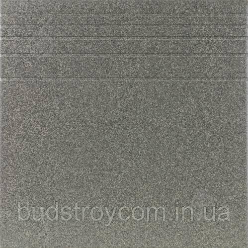 Плитка Атем Грес 0601 темно-сірий Pimento 30x30 щабель