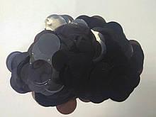 Аксесуари для свята конфеті кружечки чорний 23 мм х 23 мм 100 грам