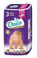 Подгузники Dada Extra Care midi 3 (4-9 кг) 60 штук