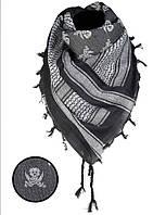 Арафатка-шемаг Mil-tec Череп черно-белая110*110см 100% хлопок