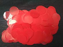 Аксесуари для свята конфеті кружечки червоний 23 мм х 23 мм 100 грам