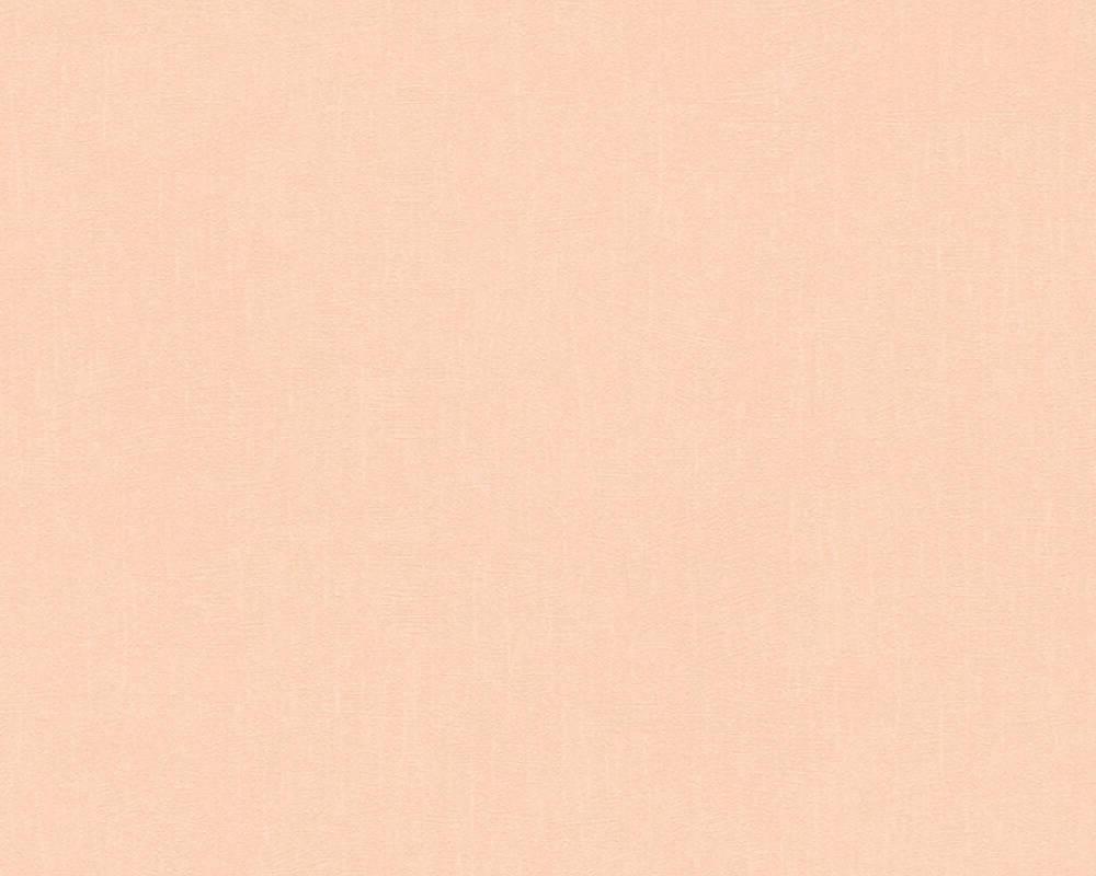 Однотонные персиковые обои 364278, пастельные  с легким оранжевым оттенком, виниловые на флизелиновой основе