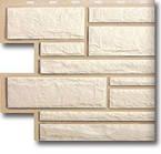 Фасадная панель Камень Белый
