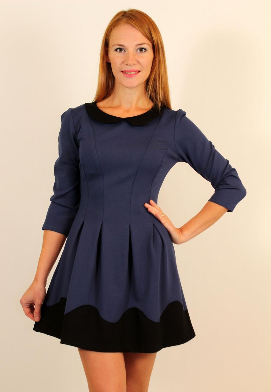Платье с юбкой в складку 42-48 р ( разные цвета )