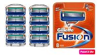 Gillette Fusion 8 шт. сменные кассеты для бритья (джилет)