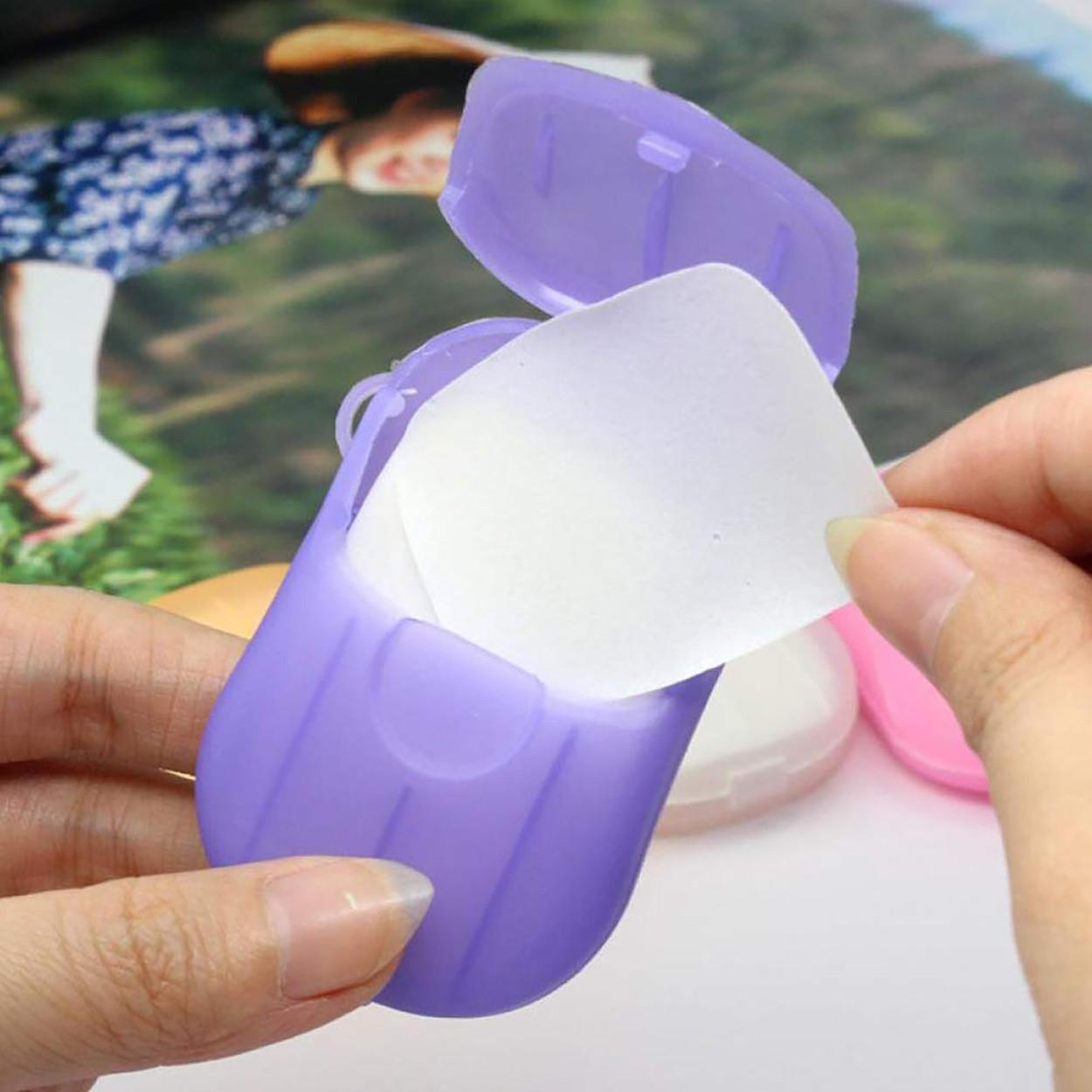Дорожное мыло одноразовое в пластинах с мыльницей Adna