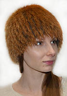 Жіноча шапка з хутра лисиці.