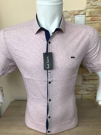 Рубашка короткий рукав Paul Smith c принтом (2811), фото 2