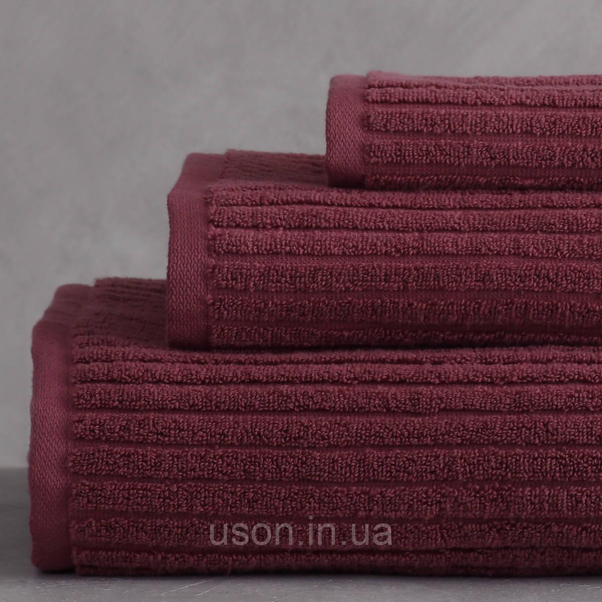 Набор махровых полотенец (30*30, 50*85, 75*150 ) TM Pavia Турция Stripe murdum