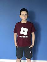{есть:134,140,158} Футболка Roblox для мальчиков, Артикул: JP1139-бордовый
