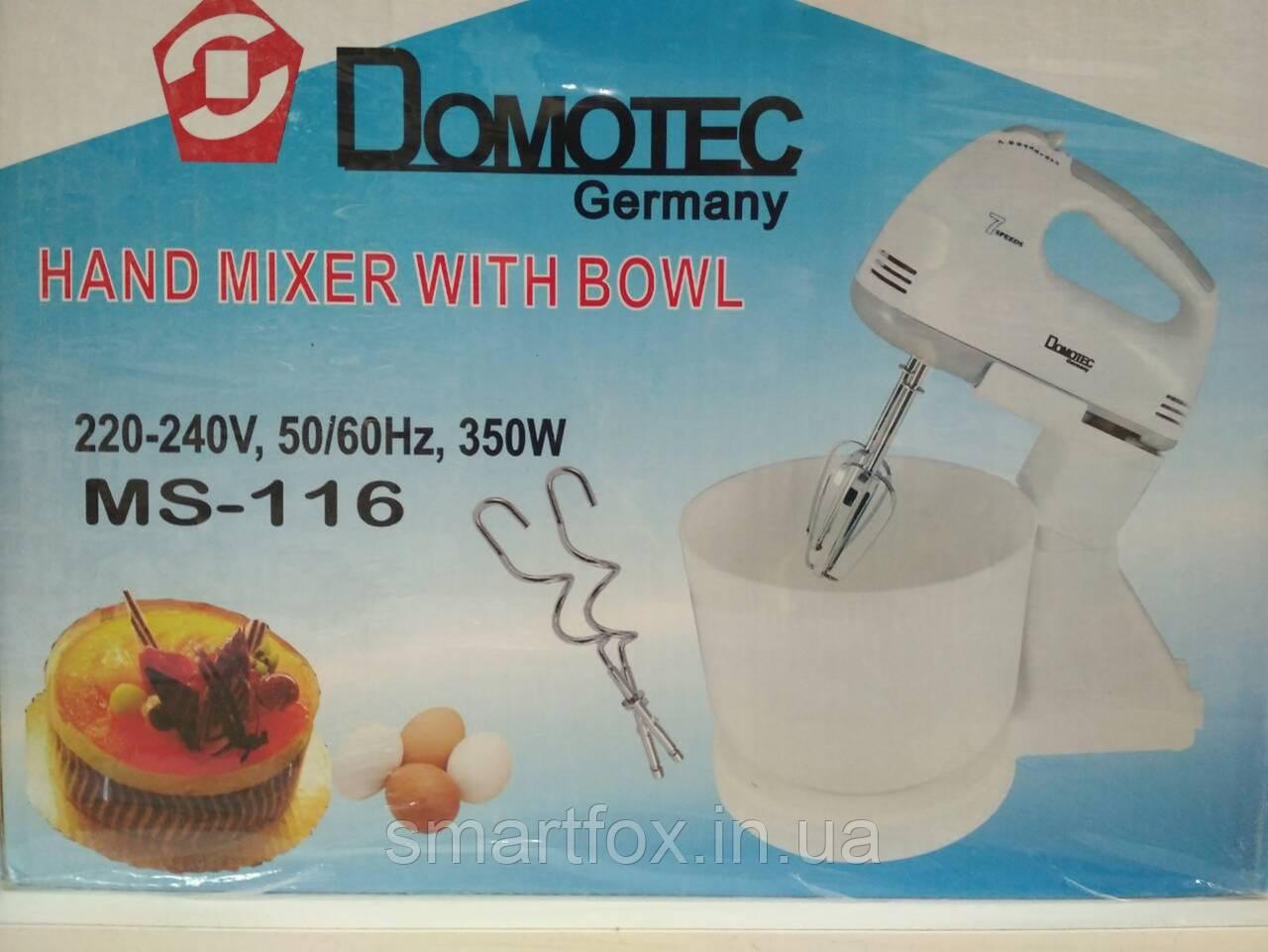 Миксер Domotec MS-116 c чашей
