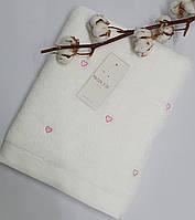 Полотенце Maison D'or Love 85x150 White/Pink