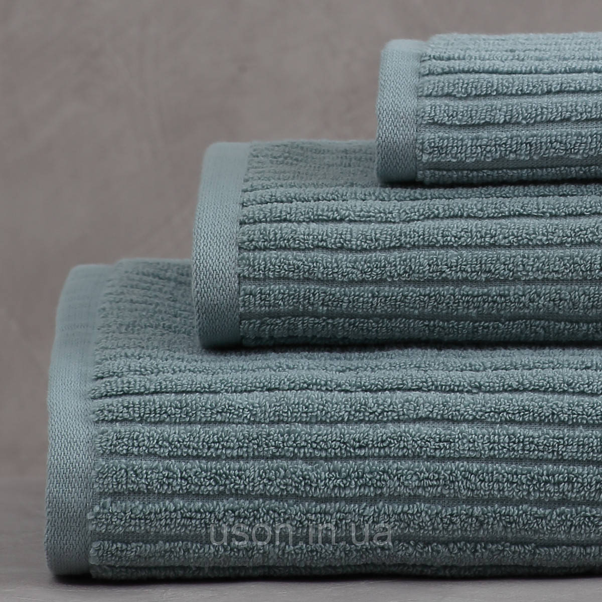 Набор махровых полотенец (30*30, 50*85, 75*150 ) TM Pavia Турция Stripe yesil