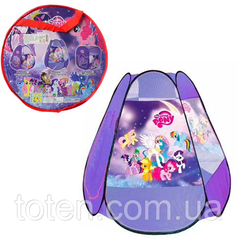 Палатка игровая Пони  My Little Pony M 5775 - 8006 (110-120-110 см) 1 вход, накидка-липучка, окна-сетки