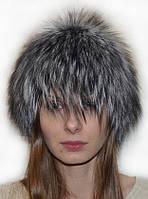 Женская шапка из меха скандинавской чернобурки.