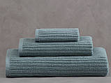 Набор махровых полотенец (30*30, 50*85, 75*150 ) TM Pavia Турция Stripe yesil, фото 3