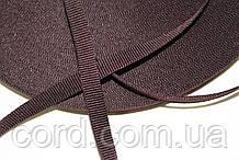 Тесьма Репс 10мм 50м тем. коричневый
