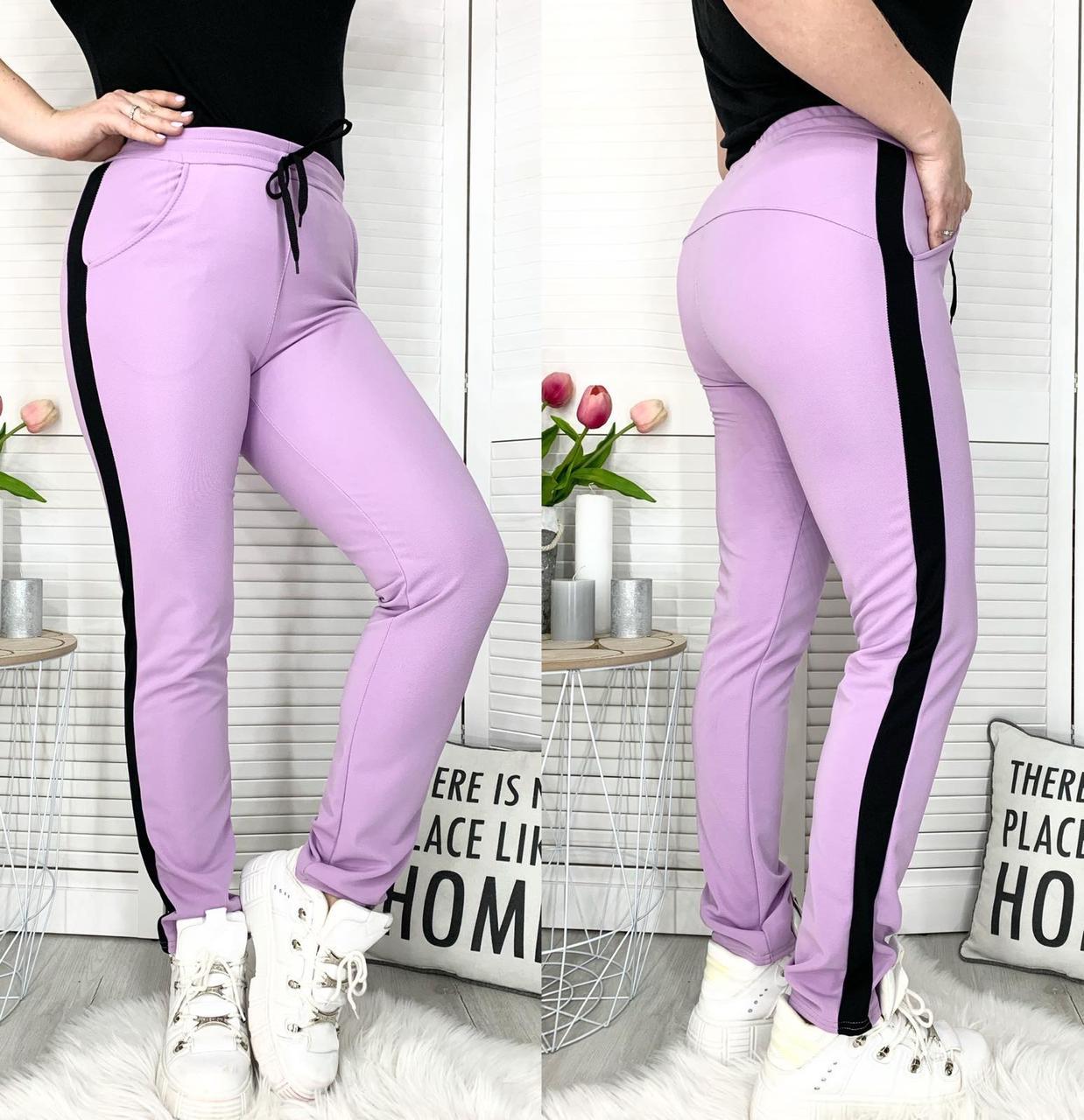Женские спортивные штаны с лампасом
