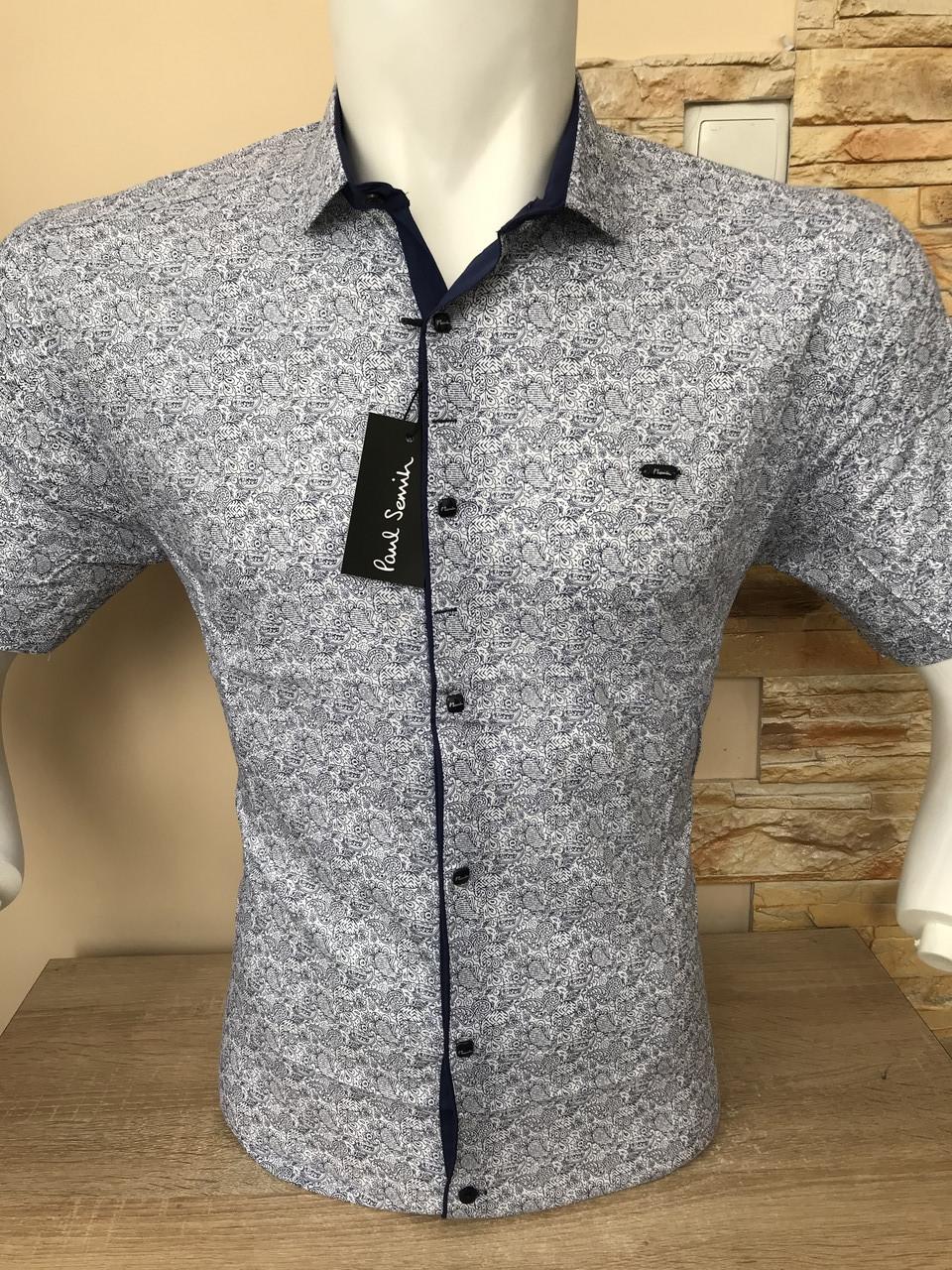 Рубашка короткий рукав Paul Smith c принтом (2005)