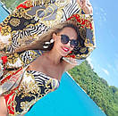 Купальник слитный бандо с модным принтом, фото 5