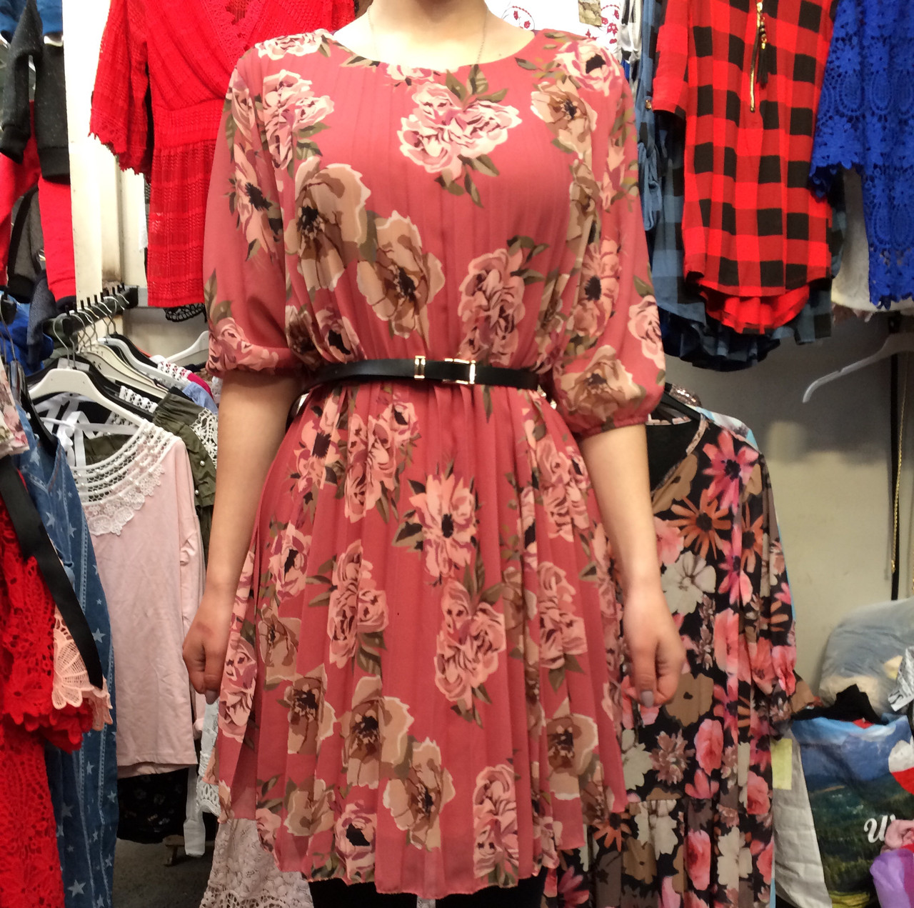 Платье женское шифоновое плиссе