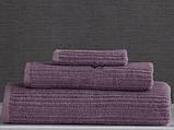 Набор махровых полотенец (30*30, 50*85, 75*150 ) TM Pavia Турция Stripe lila, фото 3