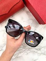 Женские солнцезащитные очки Fendi реплика черные с фиолетовой линзой, фото 1