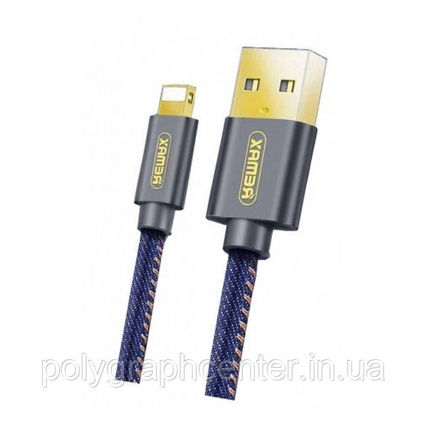 Кабель Remax Cowboy Data Cable Lightning RC-096 2.1A 1.2m Blue