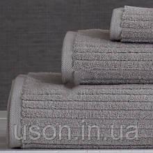 Набор махровых полотенец (30*30, 50*85, 75*150 ) TM Pavia Турция Stripe gri