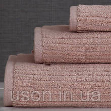 Набор махровых полотенец (30*30, 50*85, 75*150 ) TM Pavia Турция Stripe pudra
