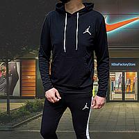 Костюм спортивный мужской в стиле Nike Jordan черного цвета