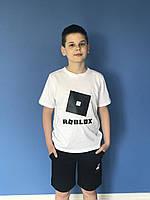 {есть:140,146} Футболка Roblox для мальчиков, Артикул: JP1139-белый [146]