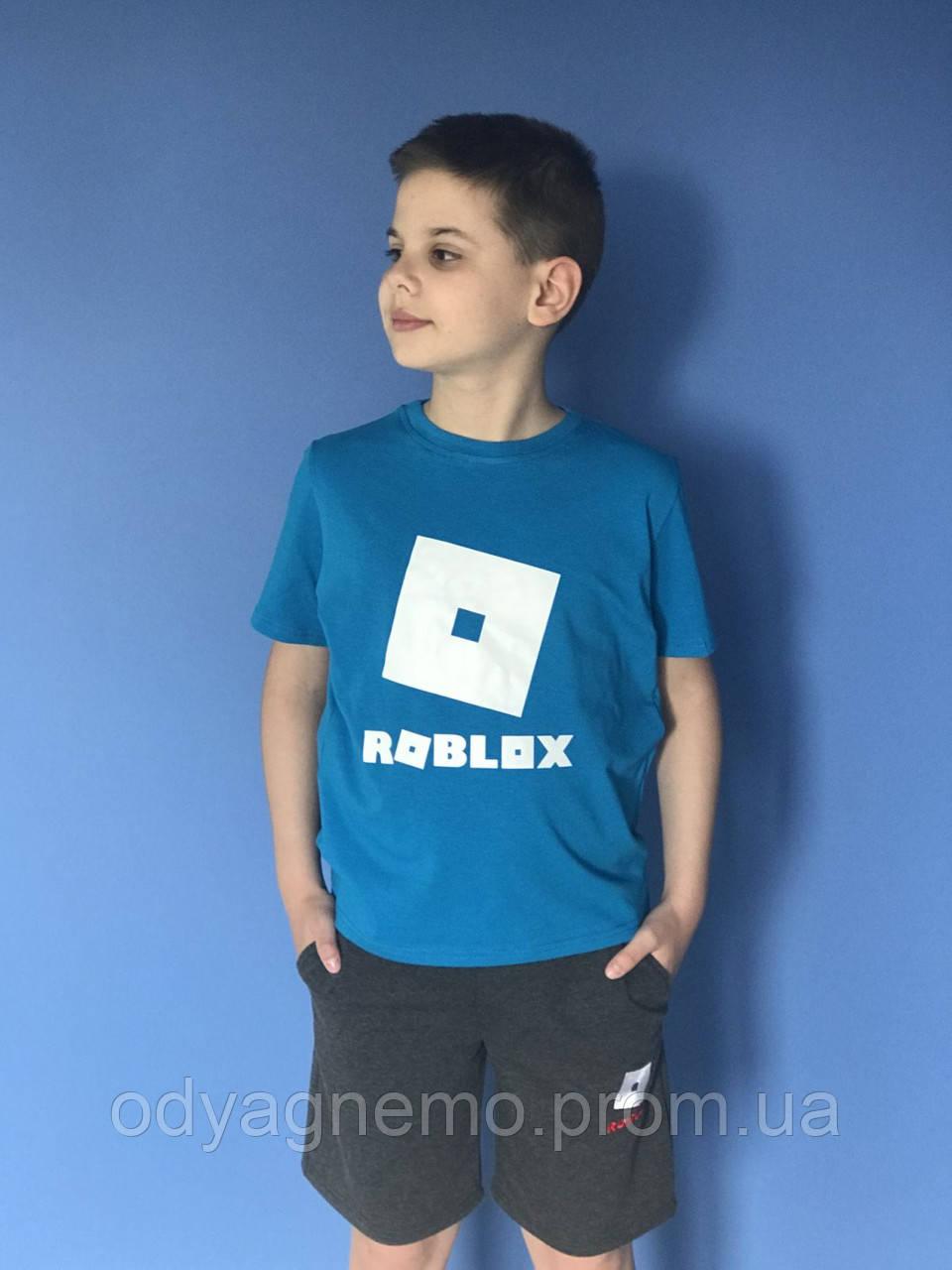 Футболка Roblox для мальчиков, 134-158 рр. Артикул: JP1139-синий