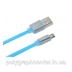 Кабель REMAX Colourful Cable MicroUSB 2.4A 1m Blue