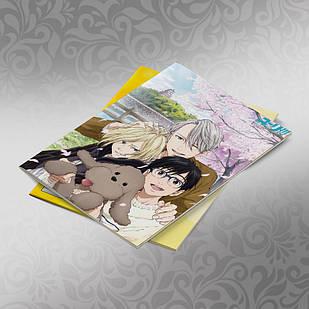 Скетчбук А5 кремовые листы Yuri on Ice 30 листов 002