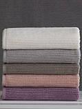 Набор махровых полотенец (30*30, 50*85, 75*150 ) TM Pavia Турция Stripe lila, фото 5