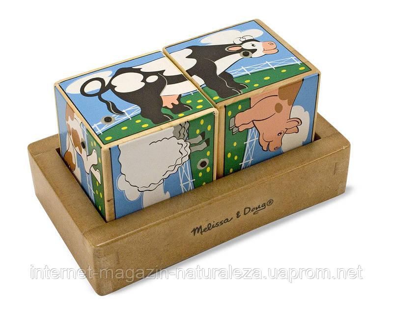 Звуковые кубики Ферма Melissa&Doug