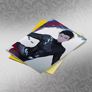 Скетчбук А5 кремовые листы Yuri on Ice 30 листов 011