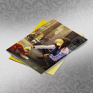 Скетчбук А5 кремовые листы Yuri on Ice 30 листов 020