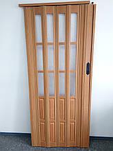 Двері гармошка підлозі засклена 860*2030*12 мм