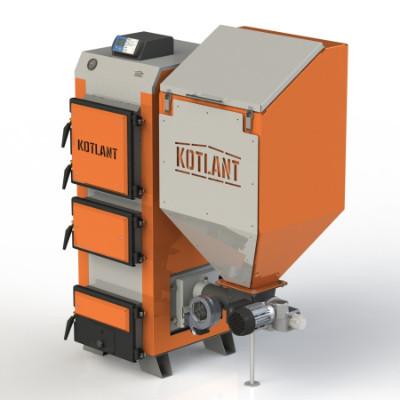 Твердотопливный котёл с автоматической подачей топлива KOTLANT серии КГП - 25 кВт (КОТЛАНТ)