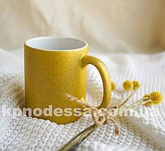Золота чашка гліттер з вашим фото або зображення будь-якої складності.